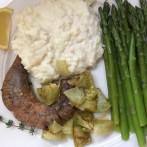 Shad Roe and Asparagus